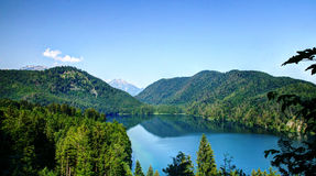 Paesaggio di Alpsee Fotografia Stock Libera da Diritti