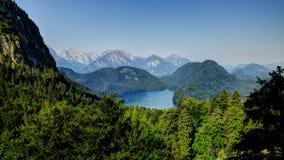 Paesaggio di Alpsee, Baviera, Germania Fotografia Stock Libera da Diritti