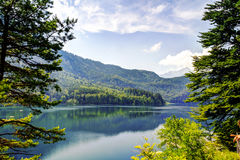 Paesaggio di Alpsee, Baviera Germania Immagini Stock