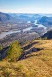 Paesaggio di Altai con il fiume Katun Immagine Stock Libera da Diritti