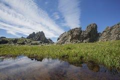 Paesaggio di Altai della montagna Natura russa Fotografia Stock Libera da Diritti