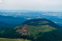 Paesaggio di Alvernia in Francia Fotografia Stock