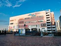 Paesaggio di Aqua City, un centro commerciale in Odaiba immagine stock libera da diritti