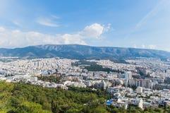 Paesaggio di Atene Fotografia Stock Libera da Diritti