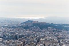 Paesaggio di Atene Fotografia Stock