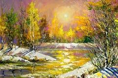 Paesaggio di autunno illustrazione di stock