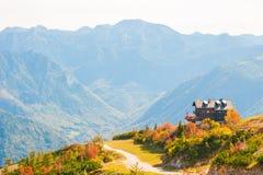 Paesaggio di autunno in alpi austriache Immagine Stock Libera da Diritti
