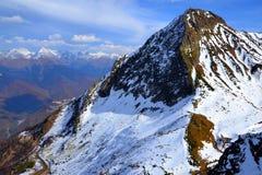 Paesaggio di autunno in Caucaso occidentale, Russia immagine stock