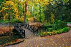 Paesaggio di autunno con il fiume Immagini Stock