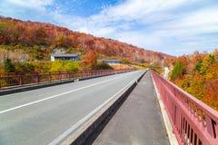 Paesaggio di autunno del Bandai Azuma Skyline immagini stock libere da diritti