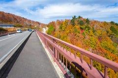 Paesaggio di autunno del Bandai Azuma Skyline Fotografia Stock Libera da Diritti
