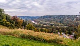 Paesaggio di autunno del fiume Immagini Stock Libere da Diritti