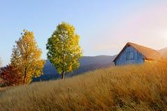 Paesaggio di autunno della montagna Fotografie Stock Libere da Diritti