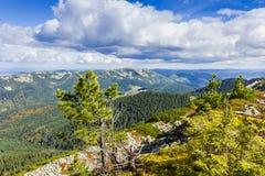 Paesaggio di autunno della montagna Fotografie Stock