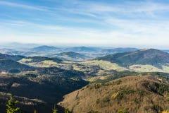 Paesaggio di autunno della valle Immagini Stock