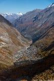 Paesaggio di autunno delle alpi e di Zermatt svizzeri, Svizzera Fotografia Stock Libera da Diritti