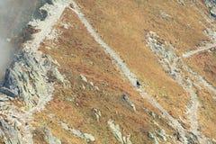 Paesaggio di autunno delle montagne nebbiose Immagine Stock Libera da Diritti