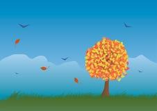 Paesaggio di autunno dentro Fotografie Stock Libere da Diritti
