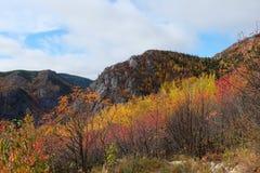 Paesaggio di autunno di Charlevoix Fotografie Stock