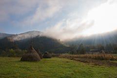Paesaggio di autunno di mattina Fotografia Stock