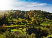 Paesaggio di autunno di mattina Fotografie Stock