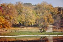 Paesaggio di autunno nella sosta Fotografia Stock
