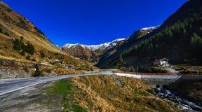Paesaggio di autunno nelle montagne Immagini Stock Libere da Diritti