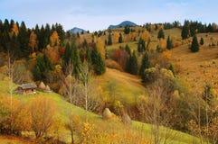 Paesaggio di autunno nelle montagne della Romania Fotografie Stock Libere da Diritti