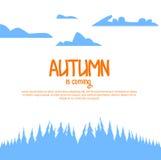 Paesaggio di autunno per il vostro opuscolo Fotografia Stock