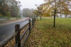 Paesaggio di autunno in Princeton fotografia stock libera da diritti