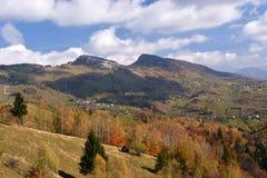 Paesaggio di autunno in Romania Immagini Stock Libere da Diritti
