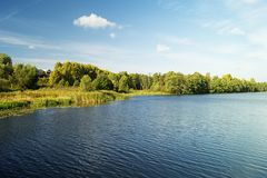 Paesaggio di autunno in terreno rurale Fotografia Stock