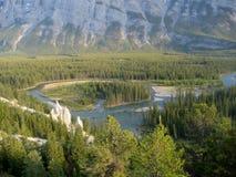 Paesaggio di Banff con i menagrami Fotografia Stock