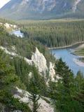 Paesaggio di Banff con i menagrami Fotografia Stock Libera da Diritti