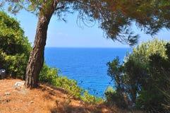 Paesaggio di Beautiuful del mar Egeo immagine stock libera da diritti