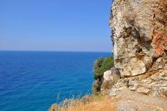 Paesaggio di Beautiuful del mar Egeo fotografia stock libera da diritti