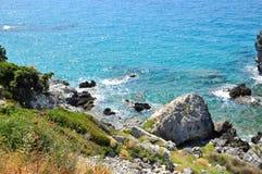 Paesaggio di Beautiuful del mar Egeo immagine stock
