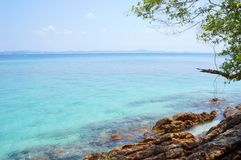 Paesaggio di bella spiaggia tropicale Fotografia Stock