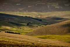 Paesaggio di Beuatiful lungo le colline pedemontana di Immagini Stock