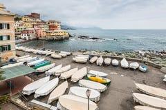 Paesaggio di Boccadasse - Genova, Italia Fotografia Stock