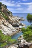 Paesaggio di Brava della Costa vicino a Tossa de marzo, Spagna. Immagine Stock Libera da Diritti