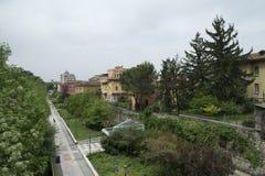 Paesaggio di Brescia, Italia fotografie stock