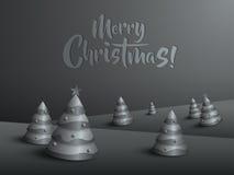 Paesaggio di Buon Natale Albero di Natale Fotografia Stock Libera da Diritti