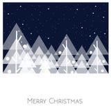 Paesaggio di Buon Natale Vettore Tempo di natale Fotografia Stock