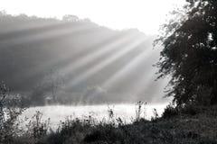 Paesaggio di BW fotografia stock