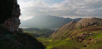 Paesaggio di Caccamo. Fotografia Stock Libera da Diritti