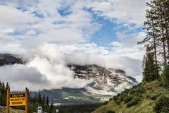 Paesaggio di Canmore in Rocky Mountains Immagini Stock
