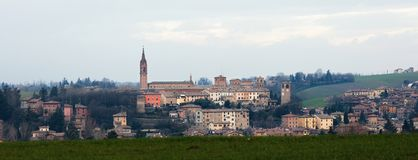 Paesaggio di Castelvetro immagine stock
