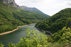 Paesaggio di Cerna River Valley, Romania Immagini Stock Libere da Diritti