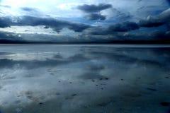 Paesaggio di Chaka Salt Lake fotografia stock